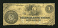 Canadian Currency: , Toronto, ON- Colonial Bank of Canada $1 ?, 18?? Charlton130-10-02-02. ...