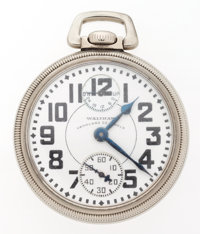 Waltham 23 Jewel Vanguard Up/Down Indicator Open Face Pocket Watch