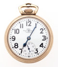 Timepieces:Pocket (post 1900), Ball 21 Jewel 999 B Open Face Pocket Watch. ...