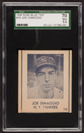 Baseball Cards:Singles (1940-1949), 1948 R346 Blue Tints Joe DiMaggio #16 SGC 70 EX+ 5.5....