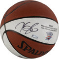 Basketball Collectibles:Balls, Kevin Durant Signed Commemorative Basketball....