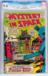 Mystery in Space #102 Savannah pedigree (DC, 1965) CGC NM 9.4 White pages