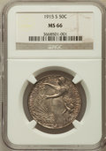 Commemorative Silver: , 1915-S 50C Panama-Pacific MS66 NGC. NGC Census: (258/51). PCGSPopulation (256/82). Mintage: 27,134. Numismedia Wsl. Price ...