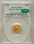 Commemorative Gold, 1922 G$1 Grant With Star MS65 PCGS. CAC....