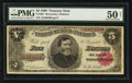 Large Size:Treasury Notes, Fr. 361 $5 1890 Treasury Note PMG About Uncirculated 50 Net.. ...