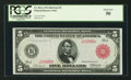 Large Size:Federal Reserve Notes, Fr. 841a $5 1914 Red Seal Federal Reserve Note PCGS About New 50.. ...