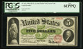 Fr. 61c $5 1862 Legal Tender PCGS New 61PPQ