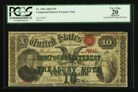 Fr. 190a $10 1864 Compound Interest Treasury Note PCGS Apparent Very Fine 20