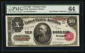 Large Size:Treasury Notes, Fr. 369 $10 1891 Treasury Note PMG Choice Uncirculated 64.. ...