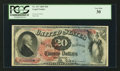 Large Size:Legal Tender Notes, Fr. 127 $20 1869 Legal Tender PCGS Very Fine 30.. ...