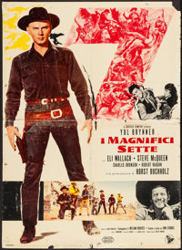 "The Magnificent Seven (United Artists, 1960). Italian Foglio (26"" X 36""). Western"