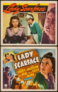 """Movie Posters:Crime, Lady Scarface (RKO, 1941). Title Lobby Card and Lobby Card (11"""" X14""""). Crime.. ... (Total: 2 Items)"""
