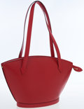 Luxury Accessories:Bags, Louis Vuitton Red Epi Leather St Jacques PM Shoulder Bag. ...