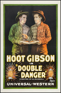 "Double Danger (Universal, 1920). One Sheet (26.75"" X 41""). Western"