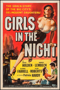 "Girls in the Night (Universal International, 1953). One Sheet (27"" X 41""). Crime"