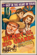 "Movie Posters:Western, Heart of the Rio Grande (Republic, 1942). One Sheet (27.5"" X 41"").Western.. ..."