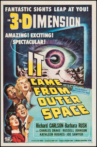 "It Came from Outer Space (Universal International, 1953). One Sheet (27"" X 41"") 3-D Style. Science Fiction..."
