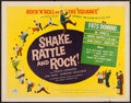 """Movie Posters:Rock and Roll, Shake, Rattle and Rock (American International, 1956). Half Sheet(22"""" X 28""""). Rock and Roll.. ..."""