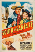 "Movie Posters:Western, South of Santa Fe (Republic, 1942). One Sheet (27"" X 41""). Western.. ..."