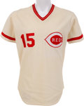 Baseball Collectibles:Uniforms, 1979 George Foster Game Worn Cincinnati Reds Jersey....