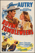 "Movie Posters:Western, Rovin' Tumbleweeds (Republic, 1939). One Sheet (27"" X 41"").Western.. ..."