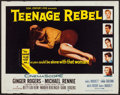 "Movie Posters:Drama, Teenage Rebel (20th Century Fox, 1956). Half Sheet (22"" X 28"").Drama.. ..."