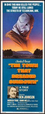 "The Town That Dreaded Sundown (American International, 1977). Insert (14"" X 36""). Thriller"