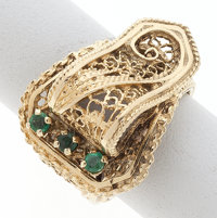 Emerald, Gold Ring