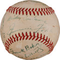 Autographs:Baseballs, 1955 Philadelphia Athletics Greats Multi-Signed Baseball with Foxx, Baker....