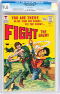 Silver Age (1956-1969):War, Fight The Enemy #1 Twin Cities pedigree (Tower, 1966) CGC NM+ 9.6 White pages....