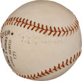 Autographs:Baseballs, Circa 1950 Pie Traynor Single Signed Baseball....