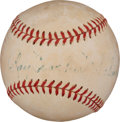 Autographs:Baseballs, Circa 1950 Ray Schalk Single Signed Baseball....