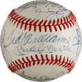 Autographs:Baseballs, 1980's-2000's 500 Home Run Club Baseball Signed by 19....