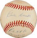 "Autographs:Baseballs, 1972 Earle Combs Single Signed ""Statistics"" Baseball...."