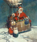 Mainstream Illustration, FRANK EARLE SCHOONOVER (American, 1877-1972). Santa Claus in aHot Air Balloon, The Popular Magazine (Holiday Number) cove...(Total: 3 Items)
