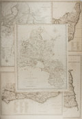 """Books:Maps & Atlases, [Antique Maps] Lot of Five Antique Maps of England by Cartographer John Carry (1754-1835). 20.5"""" x 17"""". Likely from a later ..."""