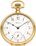 Timepieces:Pocket (post 1900), E. Howard Watch Co. Gold Series 5 Bridge Model, circa 1912. ...