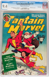 Captain Marvel Adventures #19 Crowley Copy pedigree (Fawcett Publications, 1943) CGC NM 9.4 Cream to off-white pages