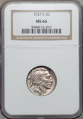 Buffalo Nickels: , 1937-S 5C MS66 NGC. NGC Census: (921/57). PCGS Population(1525/105). Mintage: 5,635,000. Numismedia Wsl. Price forproblem...