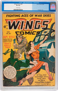 Golden Age (1938-1955):War, Wings Comics #26 (Fiction House, 1942) CGC VF 8.0 Off-whitepages....