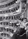 Photographs, ALFRED EISENSTAEDT (American, 1898-1995). Première at La Scala, Milan, 1933. Gelatin silver, 1991. 17-1/2 x 13 inches (4...