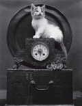 Photographs:20th Century, EDWARD HENRY WESTON (American, 1886-1958). Mary (on Clock),1945. Gelatin silver, printed later by Cole Weston. 19-1/2 x...