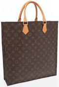 Luxury Accessories:Bags, Louis Vuitton Classic Monogram Canvas Sac Plat Shopper Bag. ...