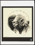 "Movie Posters:Science Fiction, Yoda by Lawrence Noble (Lucasfilm, 2007). Autographed Art Print(17.25"" X 22.5"") Star Wars Celebration Europe. Science Ficti..."