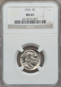 Buffalo Nickels: , 1916 5C MS65 NGC. NGC Census: (306/90). PCGS Population (477/184).Mintage: 63,498,064. Numismedia Wsl. Price for problem f...