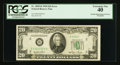 Error Notes:Obstruction Errors, Fr. 2059-B $20 1950 Federal Reserve Note. PCGS Extremely Fine 40.. ...