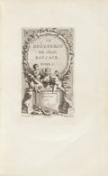 Books:Literature Pre-1900, Giovanni Boccaccio. Le Decameron de Jean Boccace. Londres[Paris, chez Pierre Prault], 1757-1761. Five octavo volume...(Total: 5 Items)
