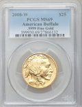 Modern Bullion Coins, 2008-W $25 Half-Ounce Gold American Buffalo MS69 PCGS. .9999 FineGold. PCGS Population (428/330). NGC Census: (660/1827). ...