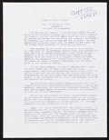Books:Science Fiction & Fantasy, Arthur C. Clarke. Fair Copy Typed Manuscript Page. [Sri Lanka]: 1989. One typed page, quarto, of the first page of the novel...