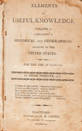 Books:Americana & American History, [Americana]. Three Nineteenth-Century Americana Titles - Two byNoah Webster. Three titles in four volumes.... (Total: 4 Items)